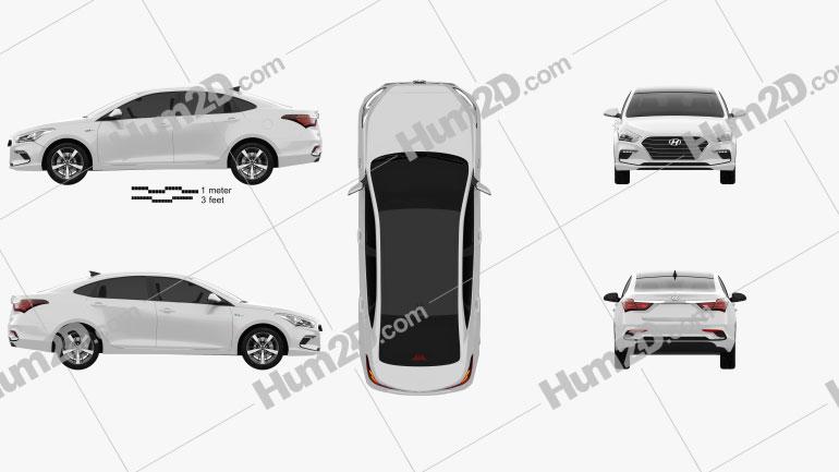 Hyundai Mistra 2017 car clipart