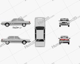 Hyundai Grandeur 1986 car clipart