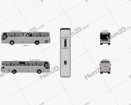 Hyundai Universe Xpress Noble Bus 2007 clipart