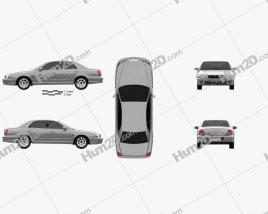 Hyundai Grandeur 1999 car clipart