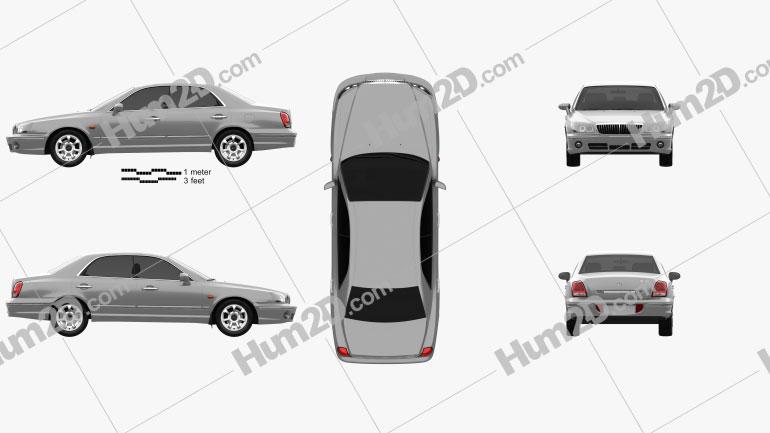 Hyundai Grandeur 1999 Clipart Image