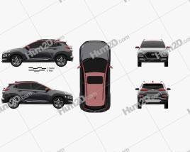 Hyundai Encino 2018 car clipart