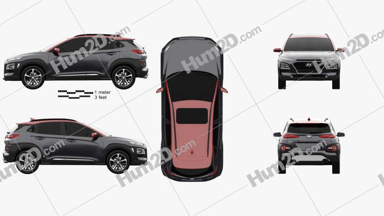 Hyundai Encino 2018 Clipart Image