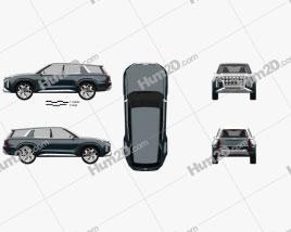 Hyundai HDC-2 Grandmaster SUV 2018 car clipart