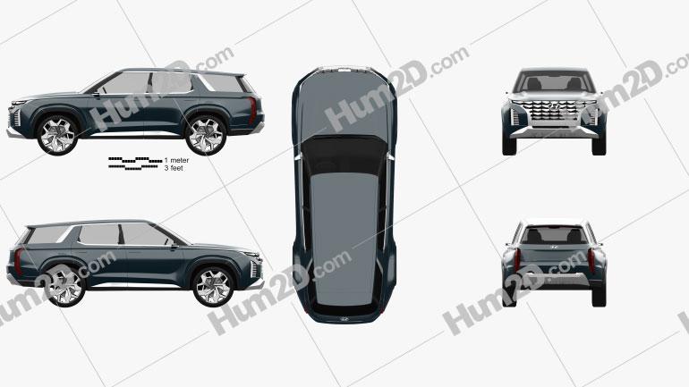 Hyundai HDC-2 Grandmaster SUV 2018 Clipart Image