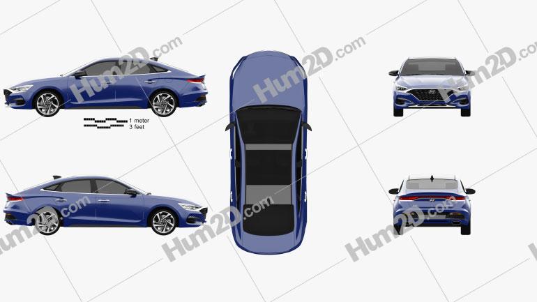 Hyundai Lafesta 2018 Clipart Image