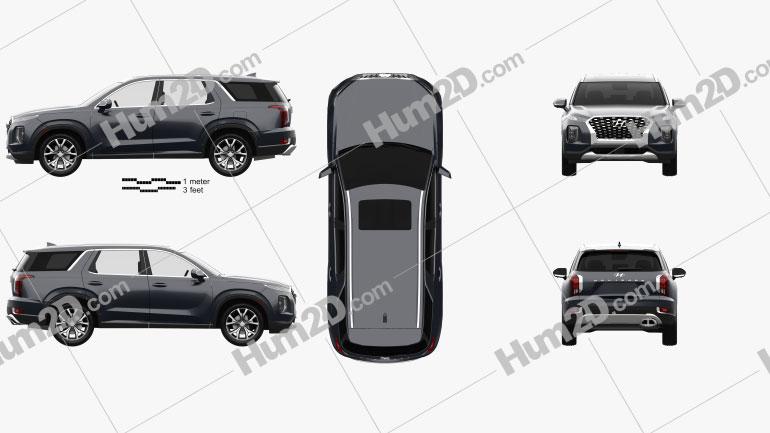 Hyundai Palisade 2020 car clipart
