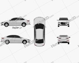 Hyundai Celesta 2018 car clipart