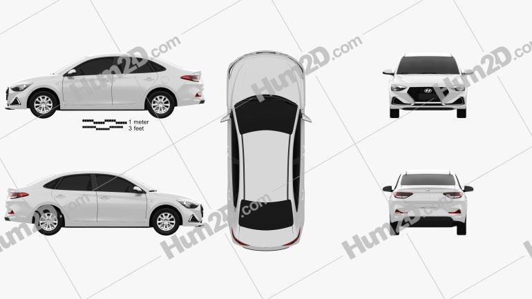 Hyundai Celesta 2018 Clipart Image