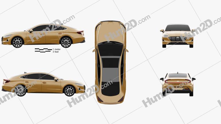 Hyundai Sonata 2020 Clipart Image