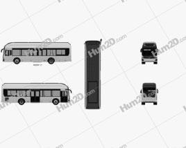 Hyundai ELEC CITY Bus 2017 clipart