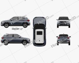 Hyundai Venue 2020 car clipart