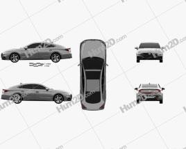 Hyundai Sonata US-spec 2019 car clipart
