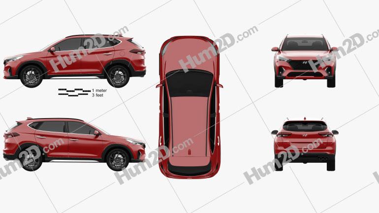 Hyundai Tucson N-line 2018 Clipart Image