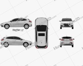 Hyundai Accent hatchback 2017 Clipart