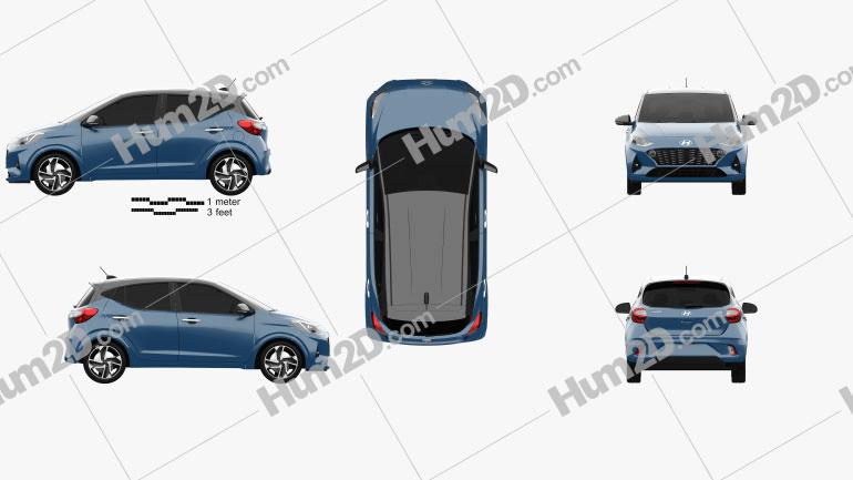Hyundai i10 2019 car clipart