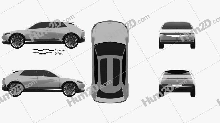 Hyundai 45 EV 2019 car clipart