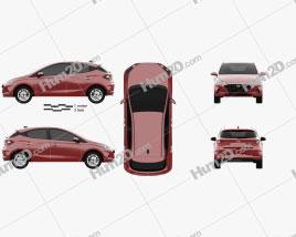 Hyundai HB20 2019 car clipart