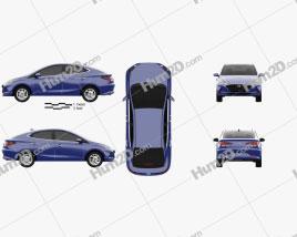Hyundai HB20 S 2019 car clipart
