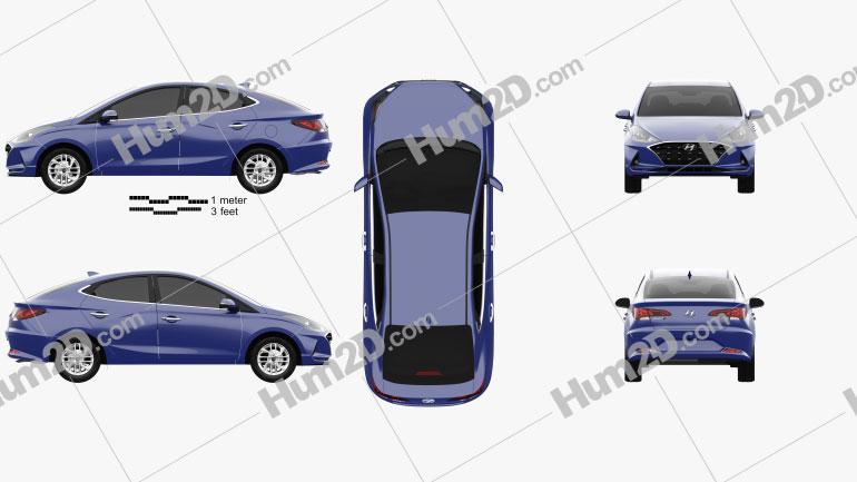 Hyundai HB20 S 2019 Clipart Image