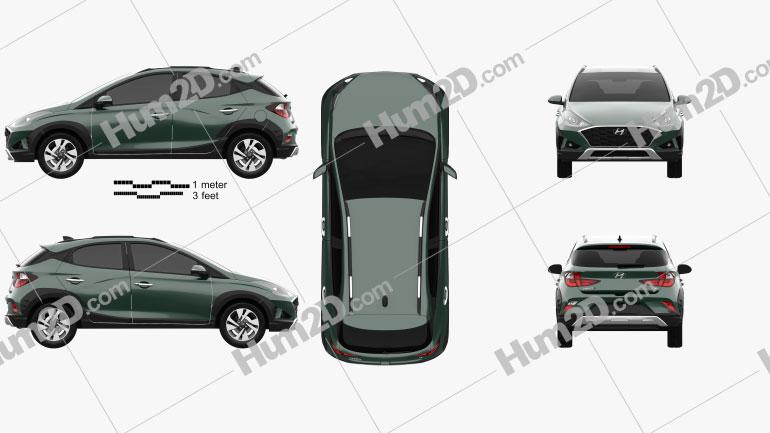 Hyundai HB20 X 2019 car clipart