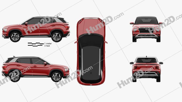 Hyundai ix25 2020 Clipart Image