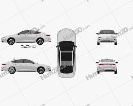 Hyundai Lafesta EV 2019 car clipart
