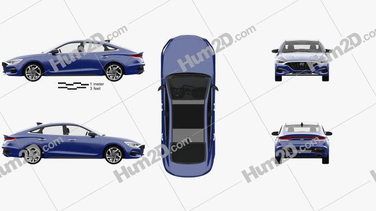 Hyundai Lafesta with HQ interior 2018 car clipart