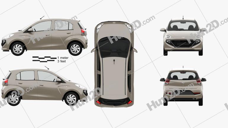 Hyundai Santro Asta with HQ interior 2018 car clipart