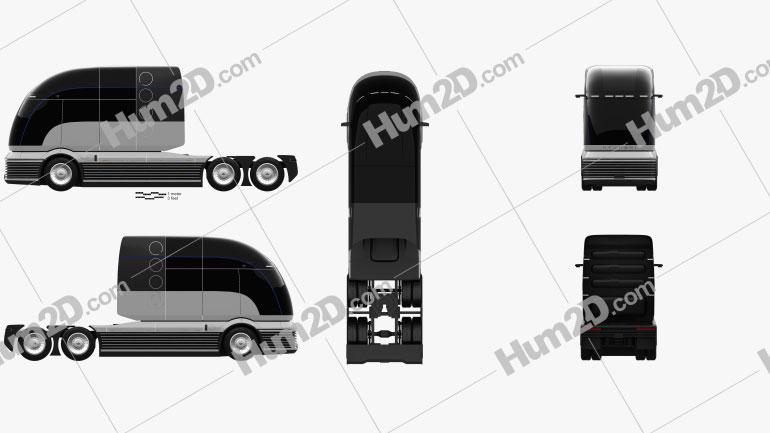 Hyundai HDC-6 Neptune Sattelzug 2019 Clipart Bild