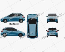 Hyundai i10 Grand Nios 2019 car clipart