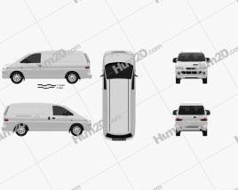 Hyundai H-1 Kastenwagen 1997 clipart
