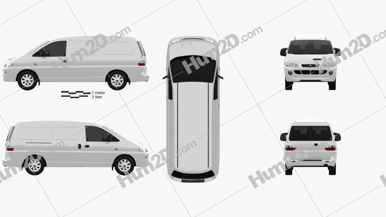 Hyundai H-1 Panel Van 1997 clipart