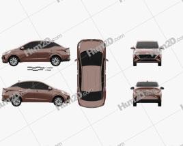 Hyundai Aura 2020 car clipart