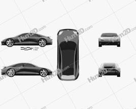 Hyundai Prophecy 2020 car clipart