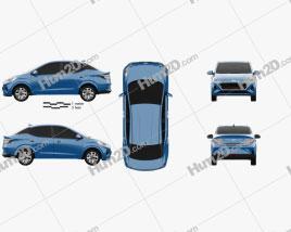 Hyundai i10 Grand sedan 2019 car clipart
