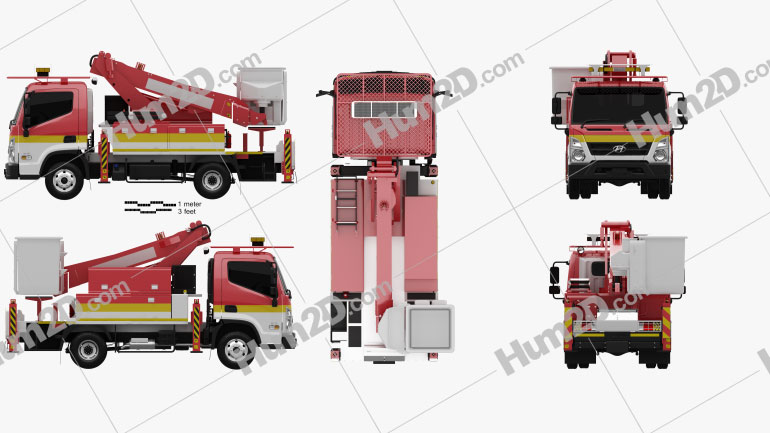 Hyundai Mighty DHT-110S Bucket Truck 2020 clipart
