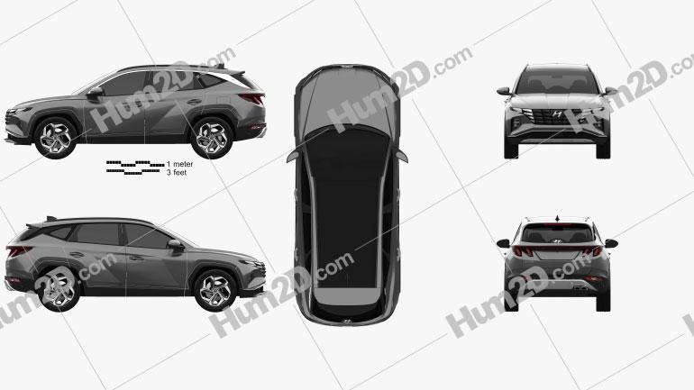 Hyundai Tucson 2021 car clipart