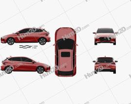 Hyundai i20 Asta 2020 car clipart