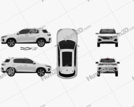 Hyundai ix35 CN-spec 2021 car clipart