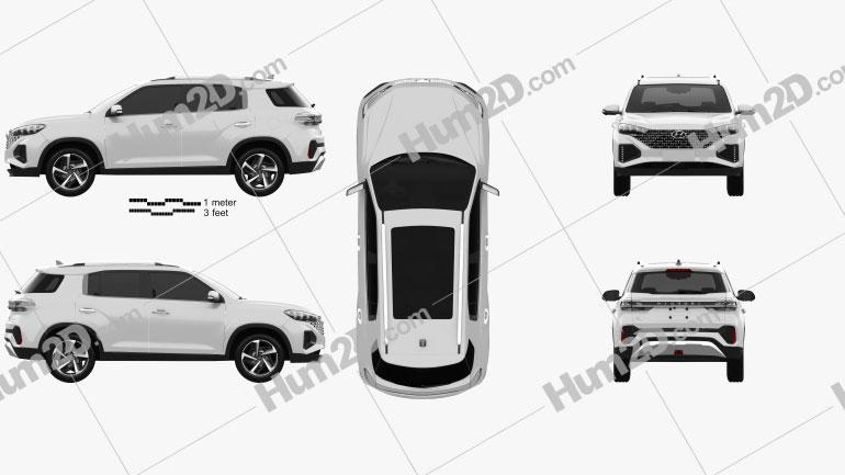 Hyundai ix35 CN-Spez 2021 car clipart