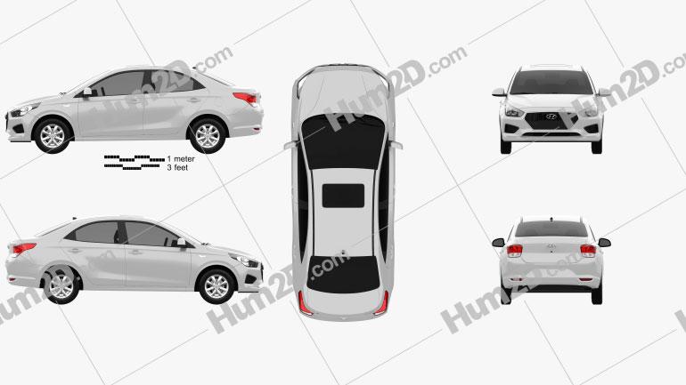 Hyundai Reina 2020 car clipart