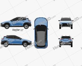 Hyundai Kona 2020 car clipart