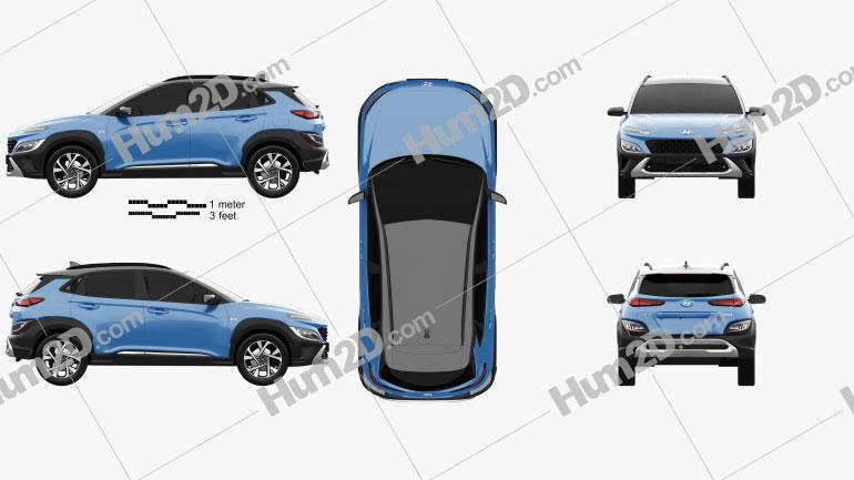 Hyundai Kona 2020 Clipart Image