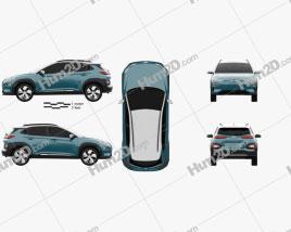 Hyundai Kona Electric 2020 car clipart