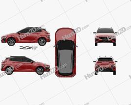 Hyundai Kona N-Line 2020 car clipart