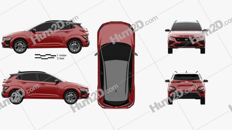 Hyundai Kona N-Line 2020 Clipart Image