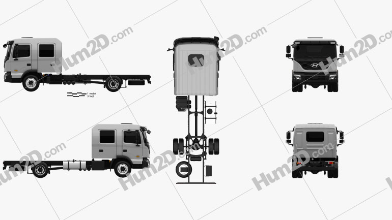 Hyundai Pavise Doppelkabine Fahrgestell LKW 2019 clipart