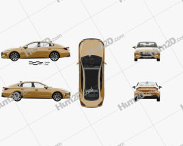 Hyundai Sonata with HQ interior and engine 2020 car clipart