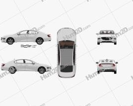 Hyundai Mistra with HQ interior 2020 car clipart